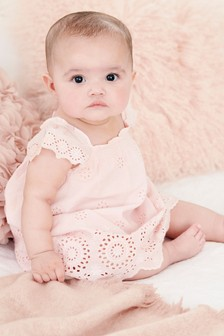 Broderie Dress (0mths-2yrs)