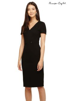 Phase Eight Black Romana Ponte Dress