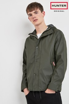 Hunter Men's Olive Lightweight Rubberised Bomber Jacket