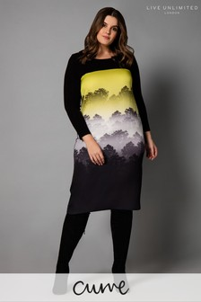 Live Unlimited Black Forest Ombre Placement Dress