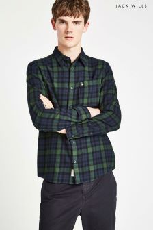 Jack Wills Green Check Shirt