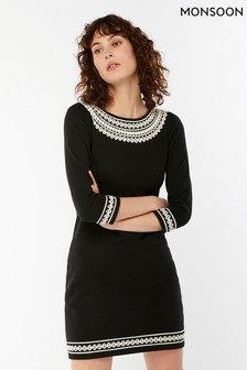 Monsoon Black Tilly Cornelli Dress