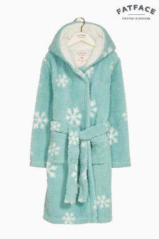 FatFace Blue Snowflake Fleece Robe