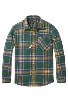 Tommy Hilfiger Green Brushed Twill Check Shirt