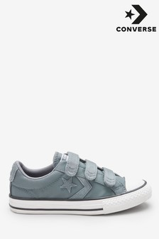 Converse Grey Youth Star Player Velcro Trainer