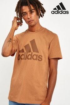 Базовая футболка медного цвета adidas Badge of Sport