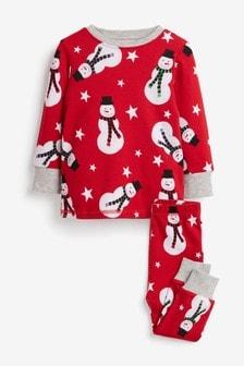 Теплая пижама со снеговиком (9 мес. - 10 лет)