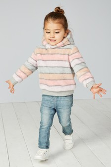 Stripe Fleece Hoody (12mths-6yrs)