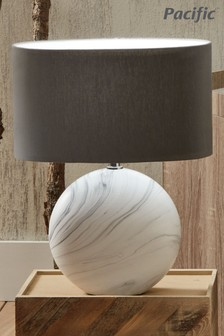 Crestola Marble Effect Ceramic Table Lamp by Pacific Lifestyle