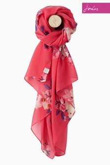 Joules Pink Birchem Bloom Wensley Scarf