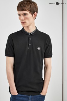 Pretty Green Black Paisley Carver Polo