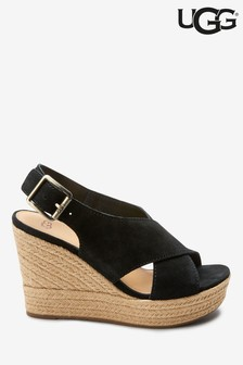 UGG® Black Harlow Wedges