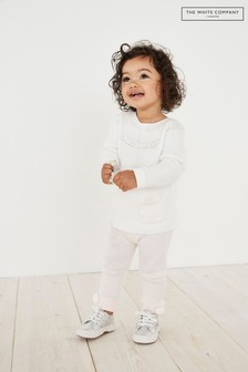 The White Company Pink Pom Knitted Leggings