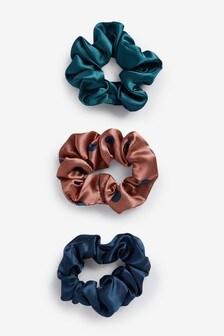 Polka Dot Scrunchies Three Pack