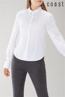 Coast White Luna Embroidered Shirt