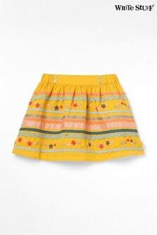 White Stuff Yellow Kids Rambler Woven Skirt