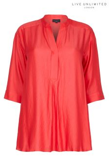 Live Unlimited Chambray Orange Blouse