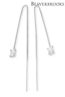 Beaverbrooks Silver Cubic Zirconia Drop Earrings
