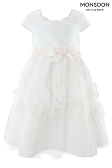c3ad90c361c5 Buy Monsoon White Peony Cascade Dress from Next Ireland