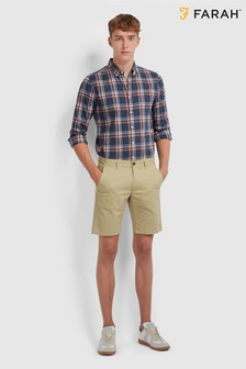 Farah Brown Hawk Short Chino Shorts