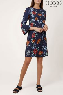 Hobbs Blue Flora Dress