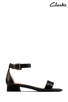 Clarks Black Combi Sheer25 Strap Sandals