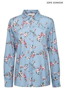 חולצה עם הדפס פרחוני של Sofie Schnoor בכחול