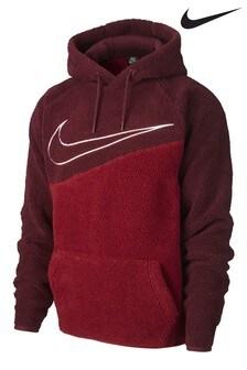 Nike Gemütliches Fleece-Kapuzensweatshirt mit Swoosh