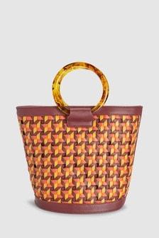 Ring Handle Bucket Bag