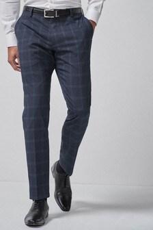 Wide Lapel Check Suit: Trousers