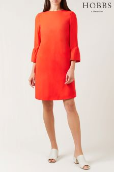 Hobbs Red Flora Dress