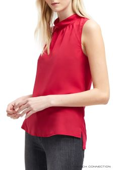 French Connection Pink Crepe Light Jersey Sleeveless Top