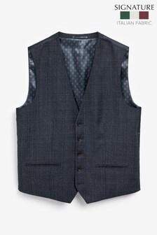 Marzotto Signature Textured Suit: Waistcoat