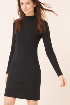 Long Sleeve Roll Neck Dress