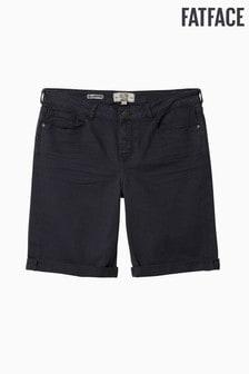 FatFace Black Garment Dye Bermuda Short