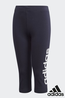 adidas Navy Essentials Linear 3/4 Tight