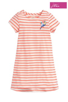 Joules Pink Riviera Short Sleeve Dress