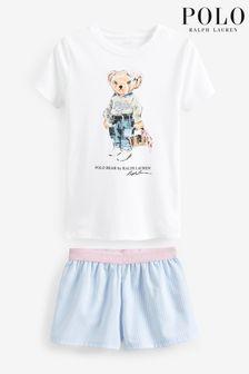 Ghost London Irina Gemustertes Hemdblusenkleid, blau
