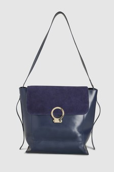 Leather Structured Hobo Bag