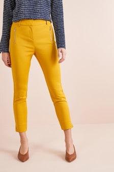 Зауженные брюки с молнией