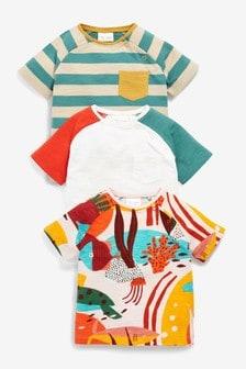 3 Pack Character Stretch T-Shirts (0mths-3yrs)