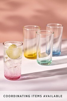 Layla Pastel Set of 4 Tumbler Glasses