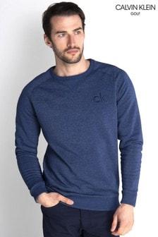 Calvin Klein Golf Blue Columbia Crew Neck Sweater