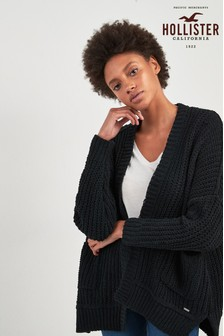 Hollister Black Chenille Cardigan