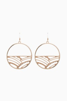 Pipping Circle Earrings