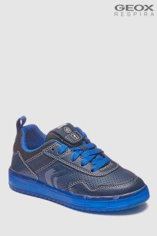 Geox Kommodor Boy Navy And Royal Trainer With Lights