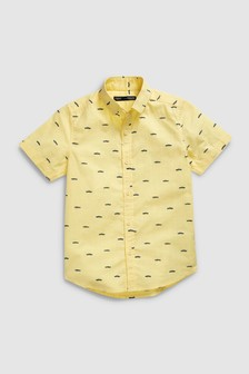 Short Sleeve Car Print Shirt (3-16yrs)