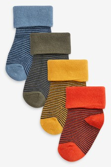 4 Pack Viscose Bamboo Stripe Socks (Younger)