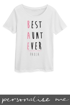 Personalised Aunt Printed T-Shirt