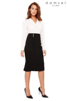 Damsel In A Dress Black Amelia City Suit Skirt